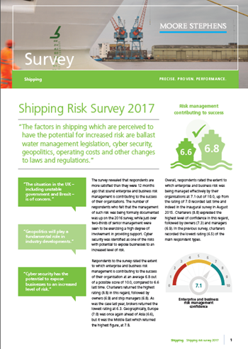 Shipping Risk Survey 2017